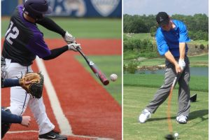 Rotational swing – A powerful Gravity Golf swing and a powerful baseball swing can both use an efficient move that is easy on the body